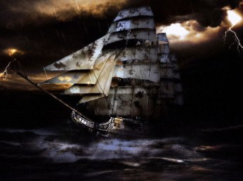 """Ghost Ship: a legend of oceans..."" by Marko Jakobi"