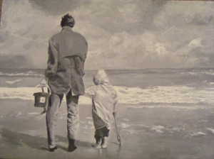 """Father and Son at the Ocean"" by Carol Jinier"