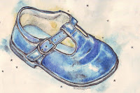 """First Shoe Blue"" by Gabby Dawnay"