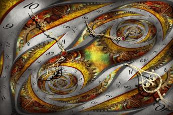 Steampunk- Spiral- Space Time Continuum by Mike Savad