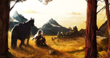 """Dawn Over Whiterun Hold"" by Richard Falla"